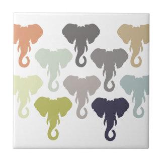 多彩な象 タイル