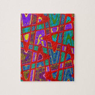 多彩な赤の抽象芸術 ジグソーパズル
