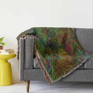 多彩な金属花パターン投球毛布 スローブランケット