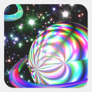 多彩な銀河系 スクエアシール