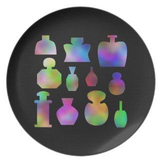 多彩な香水瓶 プレート