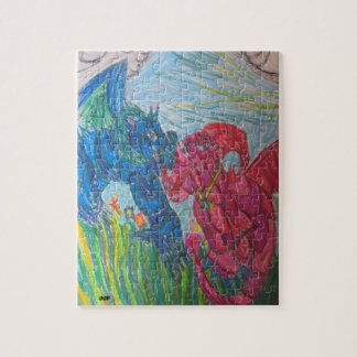 多彩な2つのドラゴン ジグソーパズル