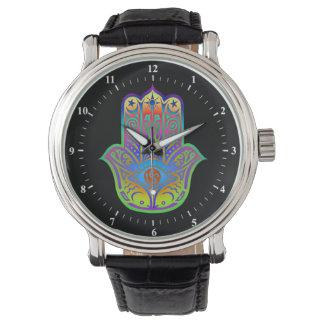 多彩なhamsaのお守り 腕時計