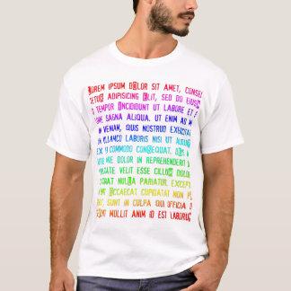 多彩なLorem Ipsum Tシャツ