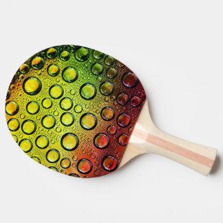 多彩なwaterdropsのベクトル芸術 卓球ラケット