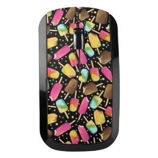 多彩のアイスクリームのアイスキャンデーはパターンを振りかけます ワイヤレスマウス