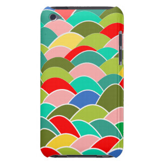 多彩のカーブの魚スケールパターン Case-Mate iPod TOUCH ケース