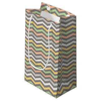 多彩のジグザグ形ライン、シェブロン-ギフトバッグ スモールペーパーバッグ