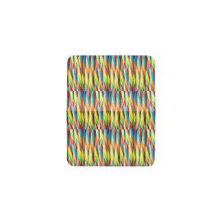 多彩のストライプなパターン 名刺入れ