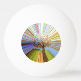多彩のストライプな秋の木の芸術 卓球ボール