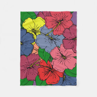多彩のハイビスカスによっては#2が開花します フリースブランケット