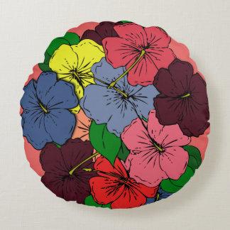 多彩のハイビスカスによっては#2が開花します ラウンドクッション