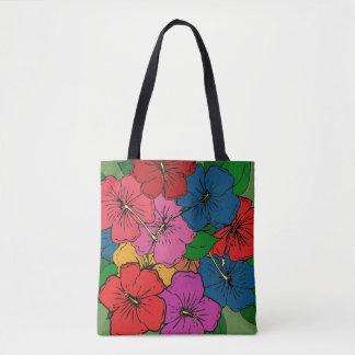 多彩のハイビスカスによっては#5が開花します トートバッグ