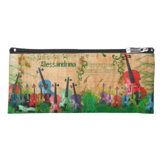 多彩のバイオリン果樹園のカスタマイズ可能な名前 ペンシルケース