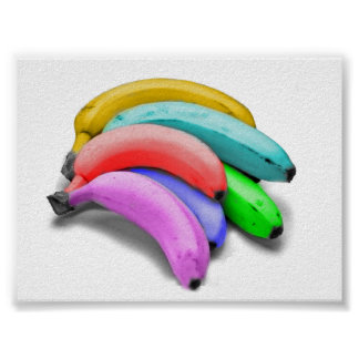 多彩のバナナポスター ポスター