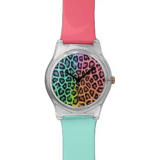 """""""多彩のヒョウのプリント"""" May28thの腕時計 腕時計"""