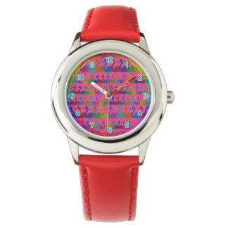 多彩のフラミンゴの腕時計 腕時計