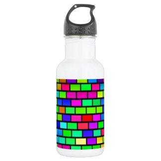 多彩のブロックデザイン ウォーターボトル