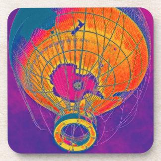 多彩の世界の地球の気球、紫色の空 コースター
