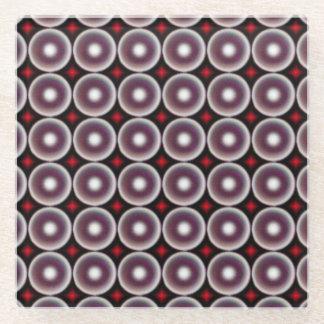 多彩の円の素晴らしいパターン ガラスコースター