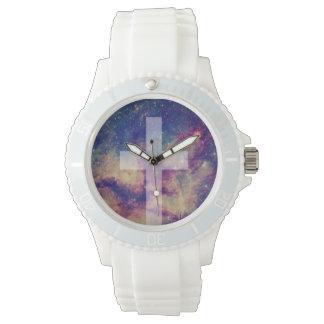 多彩の十字の宗教腕時計 腕時計