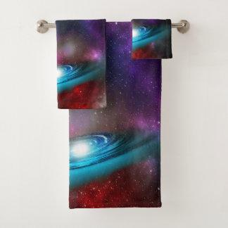 多彩の宇宙雲の銀河 バスタオルセット