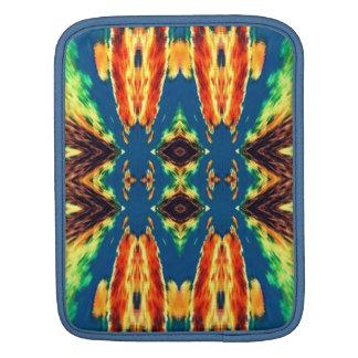 多彩の幾何学的な抽象デザイン iPadスリーブ