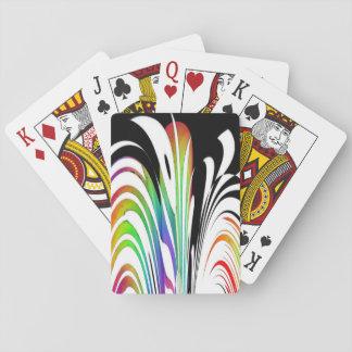 多彩の抽象デザインのカードを遊ぶこと トランプ