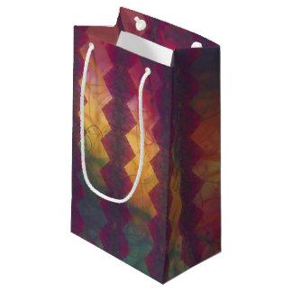 多彩の抽象的なシェブロンの渦巻のギフトバッグ スモールペーパーバッグ