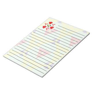 多彩の抽象的なパターン ノートパッド