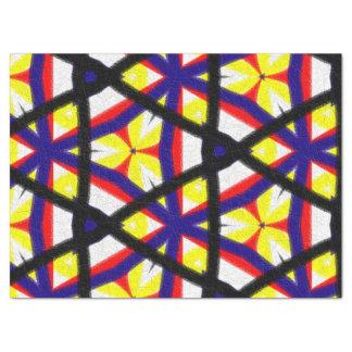 多彩の抽象的なパターン 薄葉紙