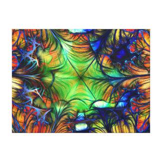 多彩の抽象的なフラクタル キャンバスプリント