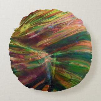 多彩の抽象芸術 ラウンドクッション