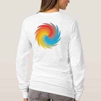 多彩の旋回ディスク Tシャツ