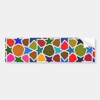 多彩の星パターン-インスパイア絹の絵画 バンパーステッカー