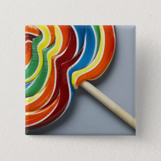 多彩の棒つきキャンデー 5.1CM 正方形バッジ