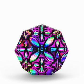 多彩の水晶 表彰盾