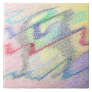 多彩の海岸の抽象芸術のタイルによって タイル