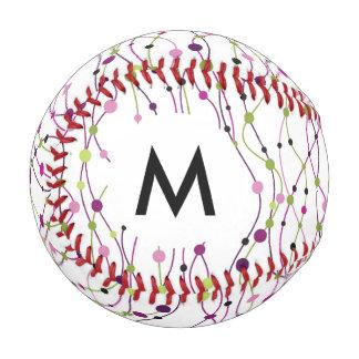 多彩の点の背景 野球ボール