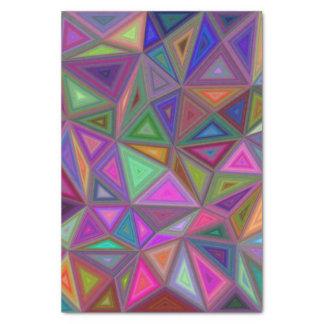 多彩の無秩序の三角形 薄葉紙
