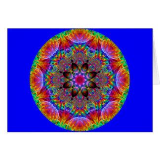 多彩の目まぐるしい花のスターバスト カード
