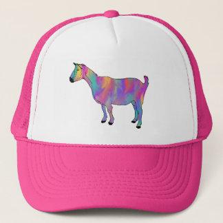 多彩の芸術のヤギのおもしろいな動物のデザイン キャップ