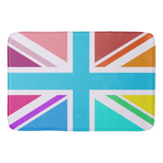 多彩の英国国旗か旗のデザイン バスマット