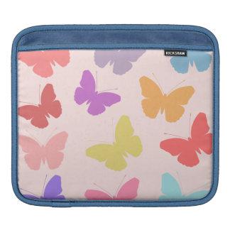 多彩の蝶デザイン iPadスリーブ