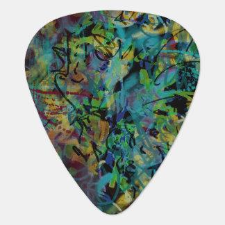 多彩の走り書きされた抽象美術 ギターピック