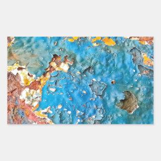 多彩の錆ついた質 長方形シール