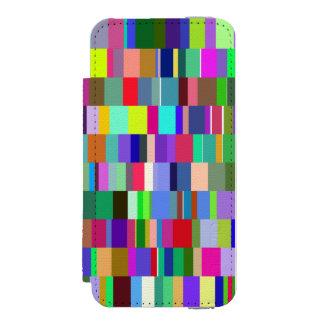 多彩の長方形の抽象的なパターン INCIPIO WATSON™ iPhone 5 財布 ケース