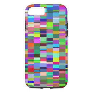 多彩の長方形の抽象的なパターン iPhone 8/7ケース