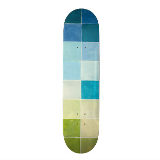 多彩のPixilated正方形との景色 カスタムスケートボード