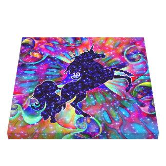 多彩宇宙のユニコーン キャンバスプリント